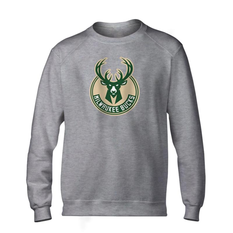 Milwaukee Bucks Basic (BSC-GRY-NP-151-NBA-MIL-LOGO)