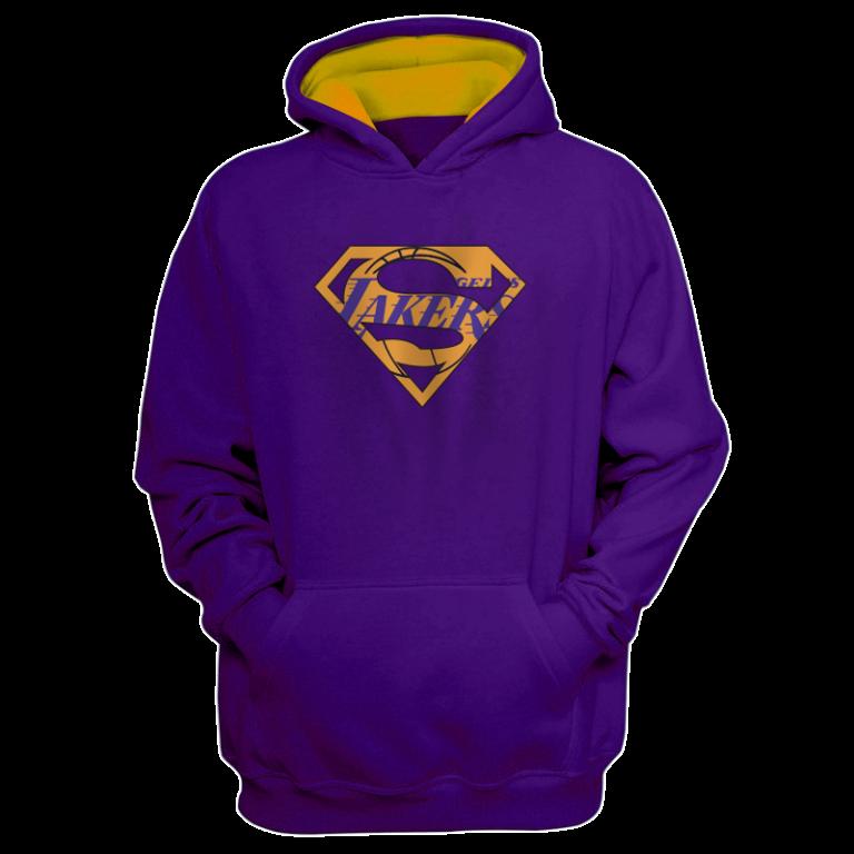Lakers Superman  Hoodie (HD-PRP-NP-122-NBA-LAL-SUPERMAN)