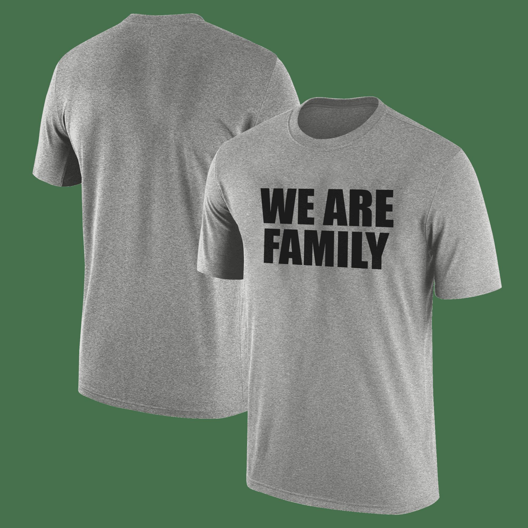 We Are Family  Tshirt (TSH-GRY-KLS-WHT-NP-WSH-BSKTBLL-wefamily-Syh-542)
