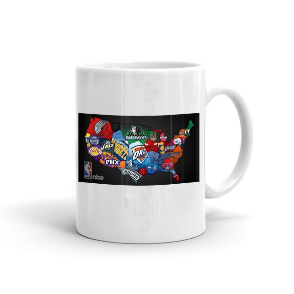 USA NBA Map Mug (MUG-usa-new)