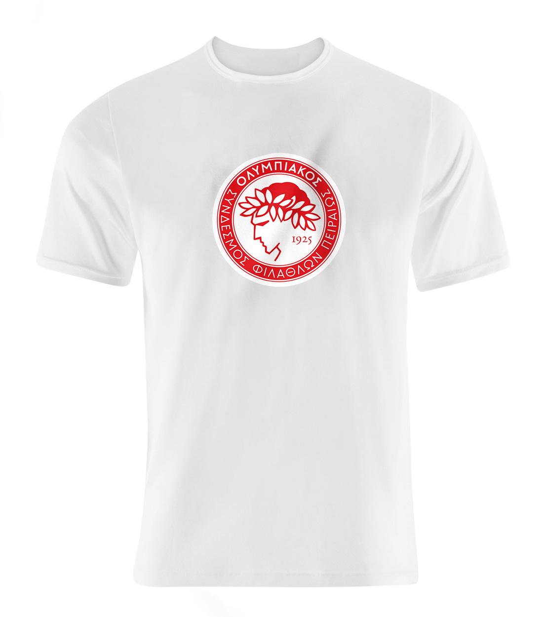 Euroleague Olympiakos Tshirt (TSH-wht-SKR-Euroleague-olympiakos01-514)