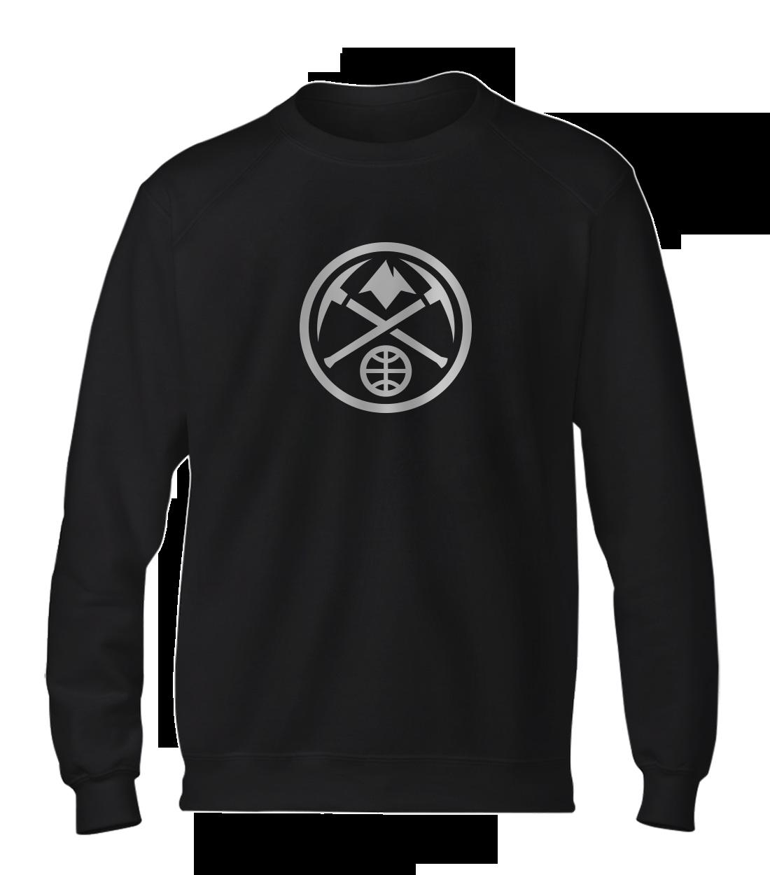Denver Nuggets Logo Basic (BSC-BLC-341-NBA-NUGGETS-LOGO-WHT)