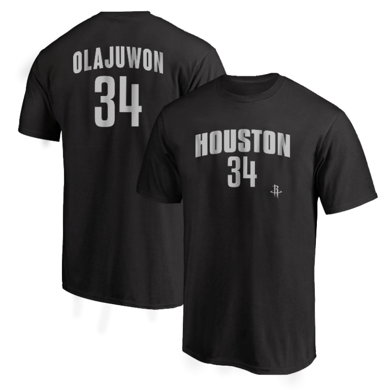 Houston Rockets Hakeem Olajuwon Tshirt (TSH-RED-PLT- Olajuwon34-614)