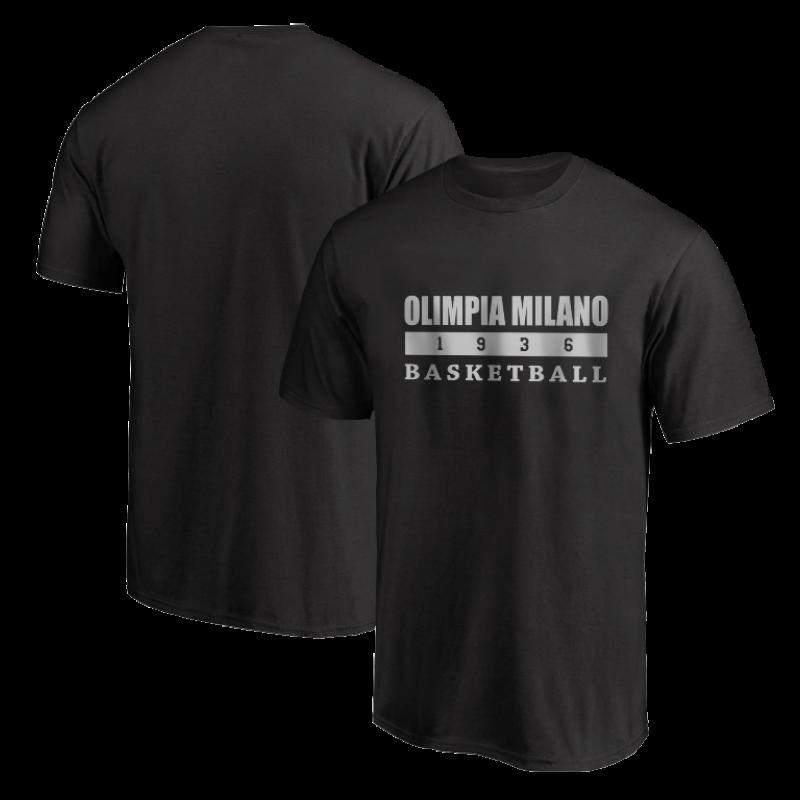 Olimpia Milano Tshirt (TSH-BLC-NP.olimpia.bsktbll-626)