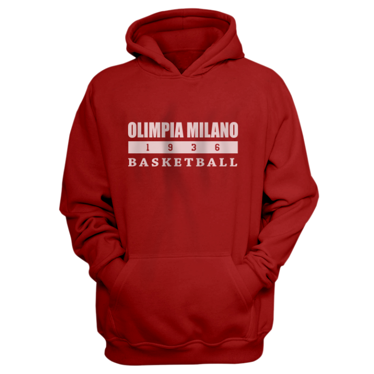 Olimpia Milano Hoodie (HD-RED-NP.olimpia.bsktbll-626)