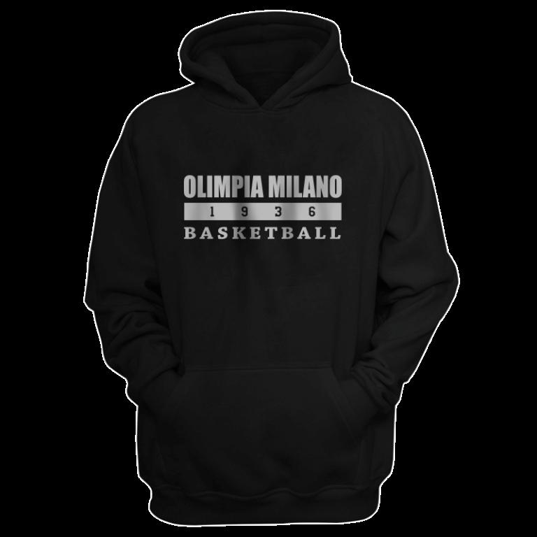 Olimpia Milano Hoodie (HD-blck-PLT.olimpia.bsktbll)