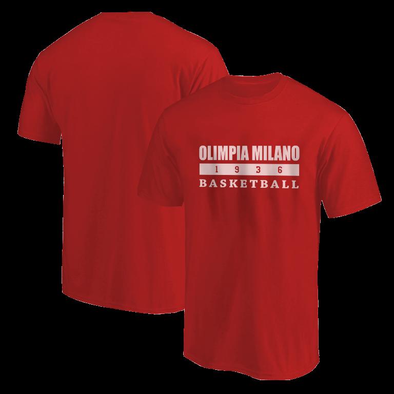 Olimpia Milano Tshirt (TSH-RED-NP.olimpia.bsktbll-626)