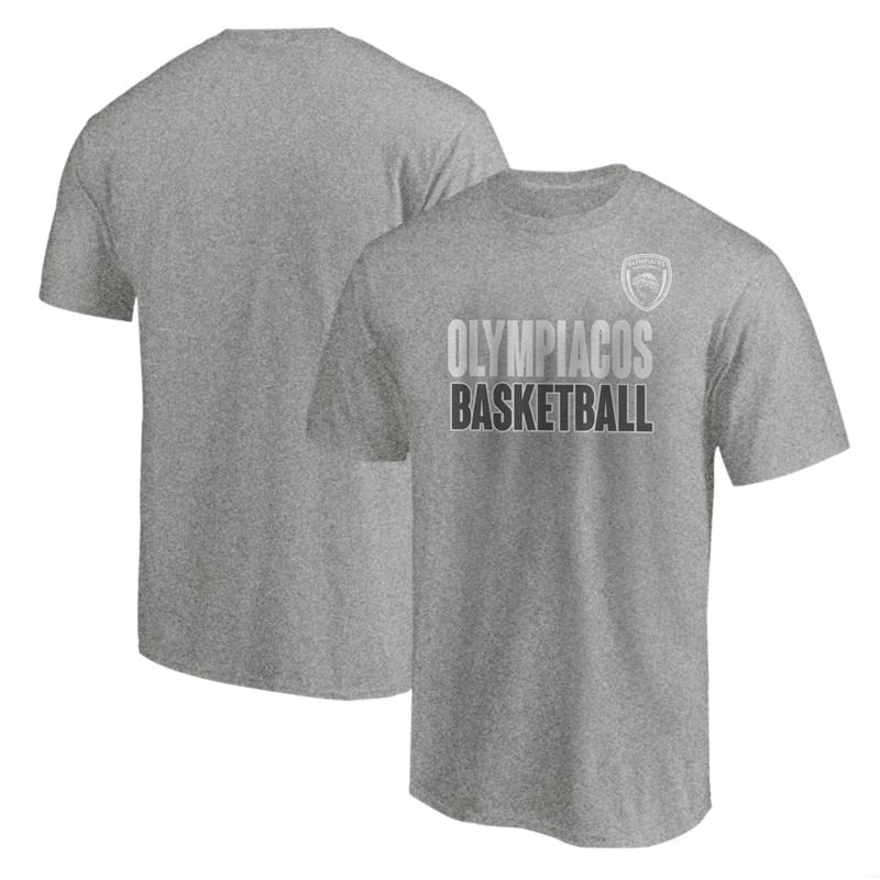 Olympiakos Tshirt (TSH-GRY-NP-229-EURO-OLYM-BASKETBALL)