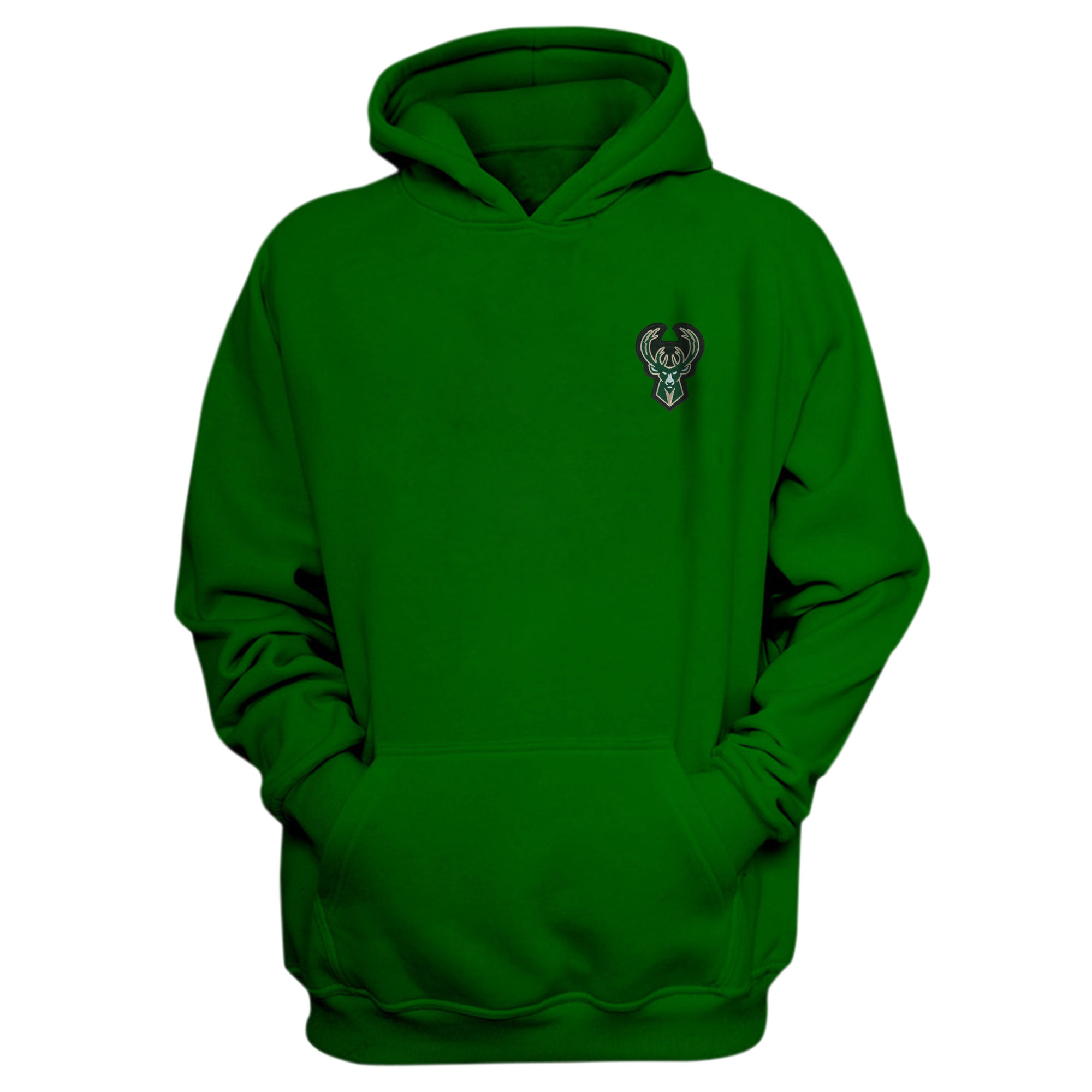 Milwaukee Bucks Hoodie (Örme)  (HD-GRN-EMBR-BUCKS)