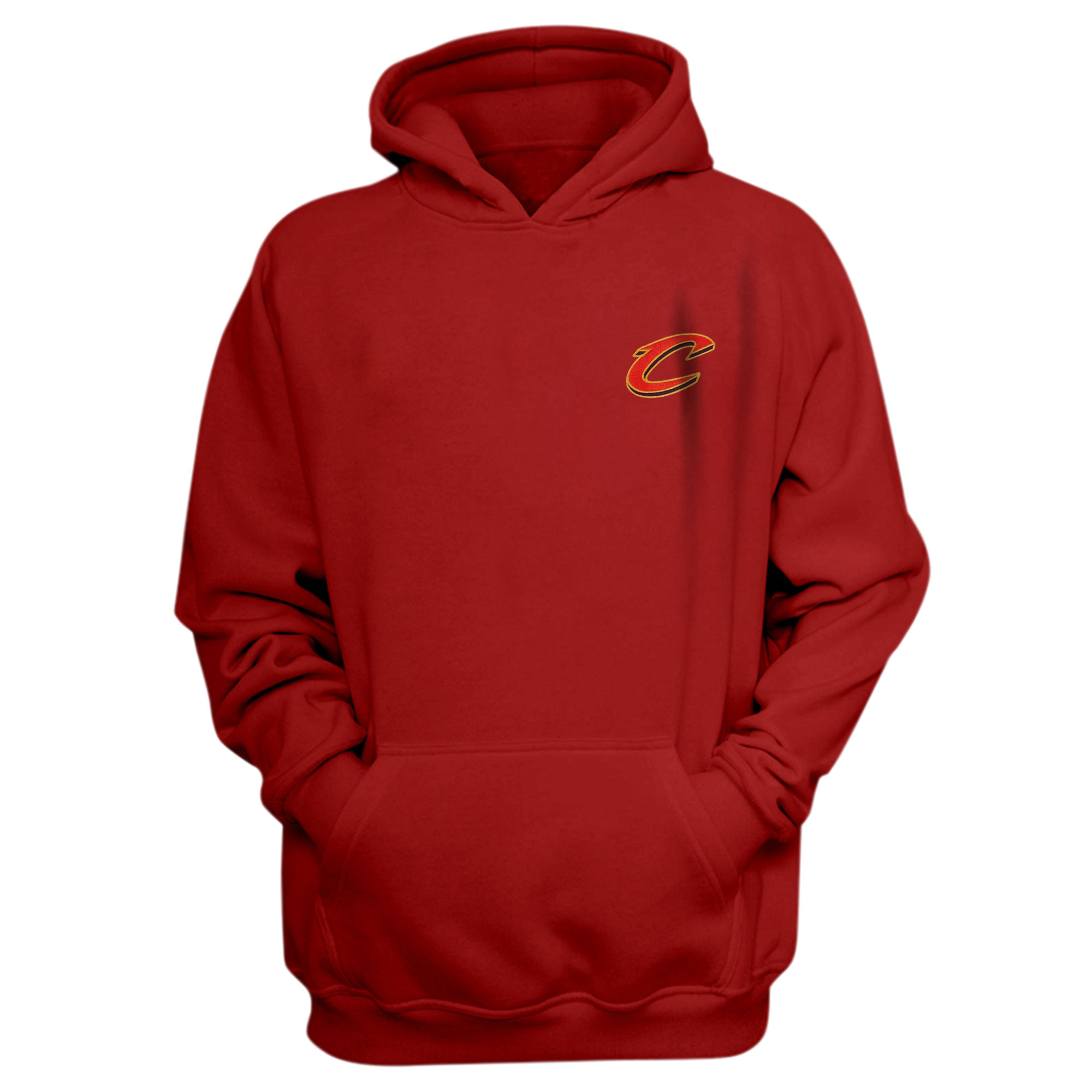 Cleveland Cavaliers Hoodie (Örme)  (HD-RED-EMBR-CLEVELAND)