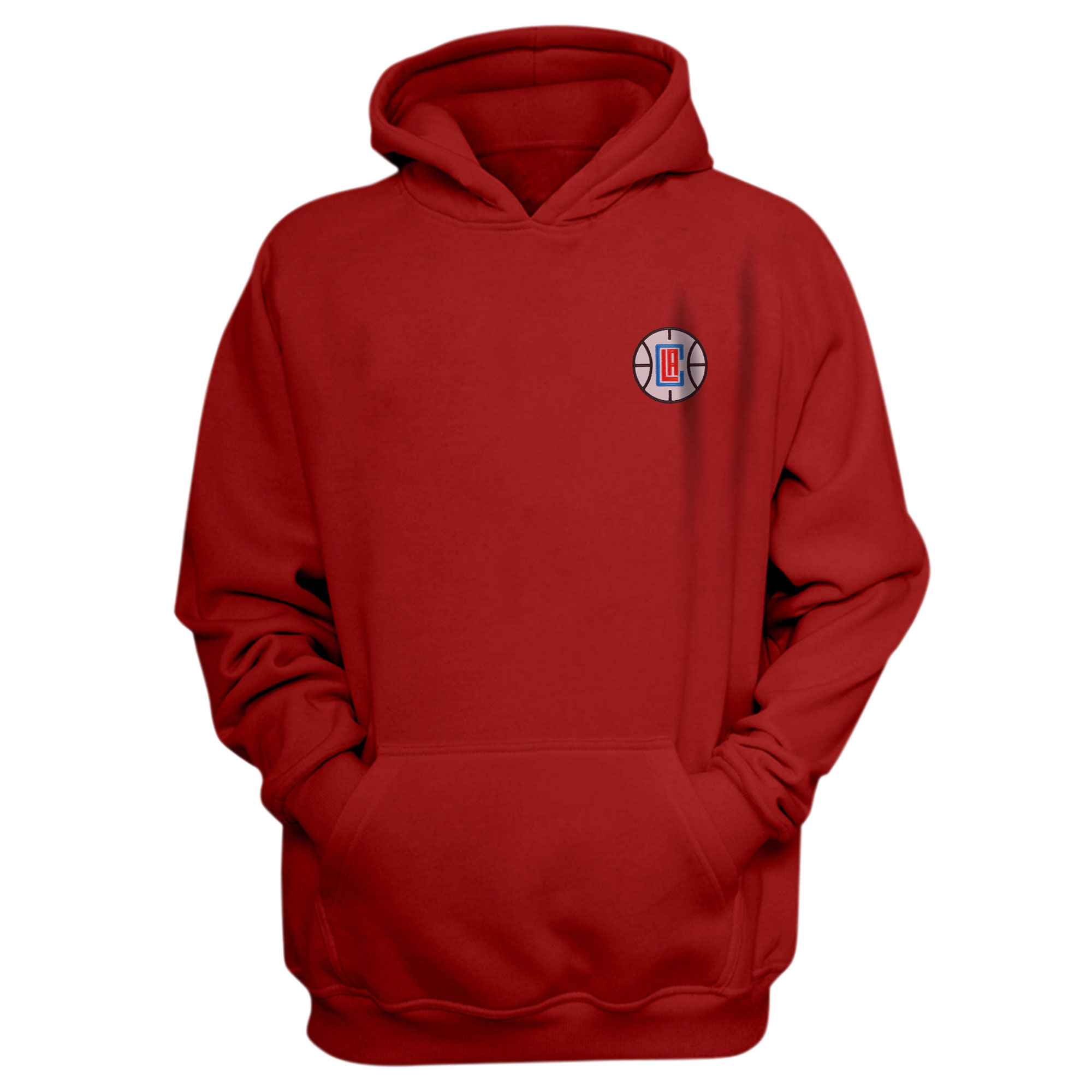 L.A. Clippers Hoodie (Örme)  (HD-RED-EMBR-CLIPPERS)