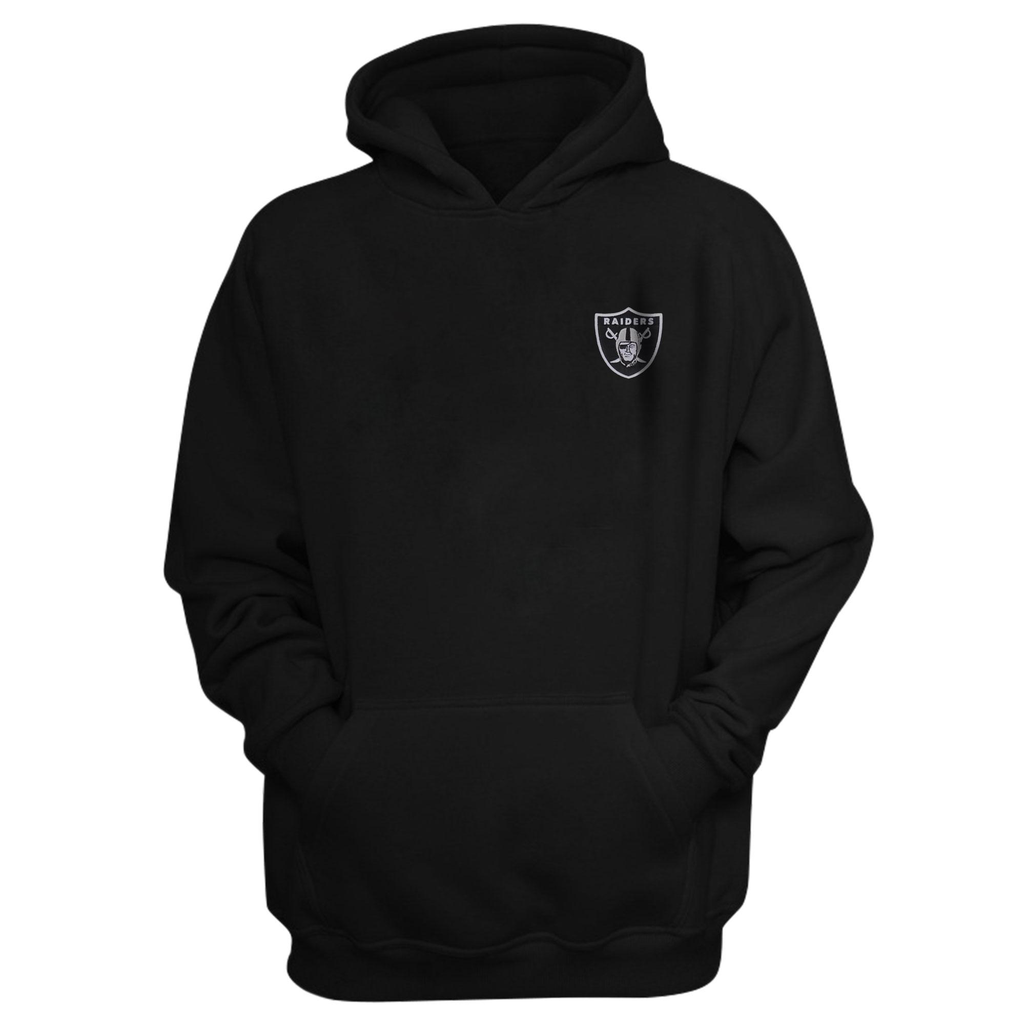 Oakland Raiders Hoodie (Örme)  (HD-BLC-EMBR-RAIDERS)