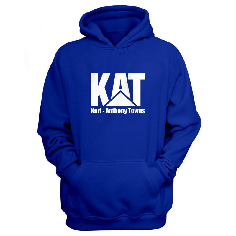 Minnesota Timberwolves Karl Anthony Towns Hoodie (HD-BLC-PLT-kat-logo-616)