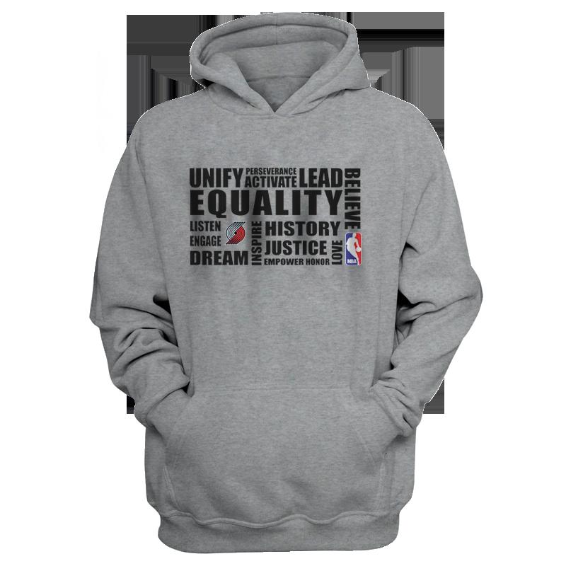 EQUALITY Portland Trail Blazers Hoodie (HD-GRY-NP-292-NBA.POR.syh)