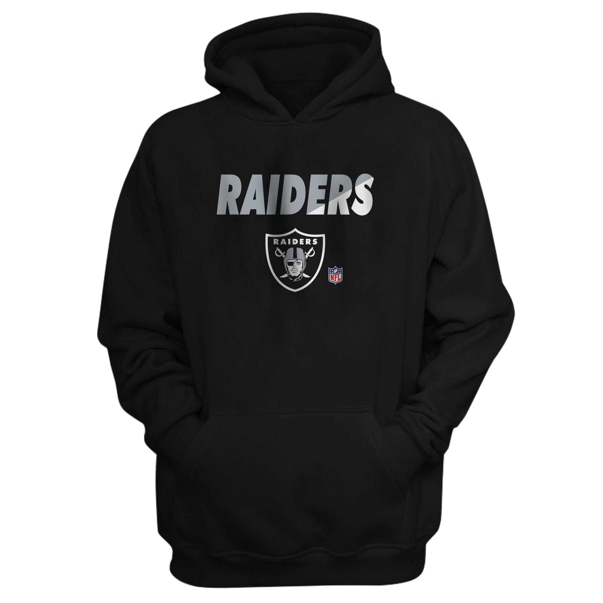 Oakland Raiders Hoodie (out-HD-BLC-214-NFL-OAK-RAIDERS)