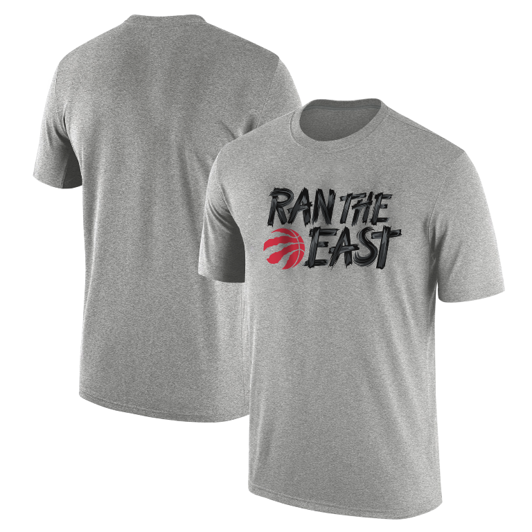 Toronto Raptors Ran The  East Tshirt (TSH-GRY-TOR.SKR.rantheeast-537)