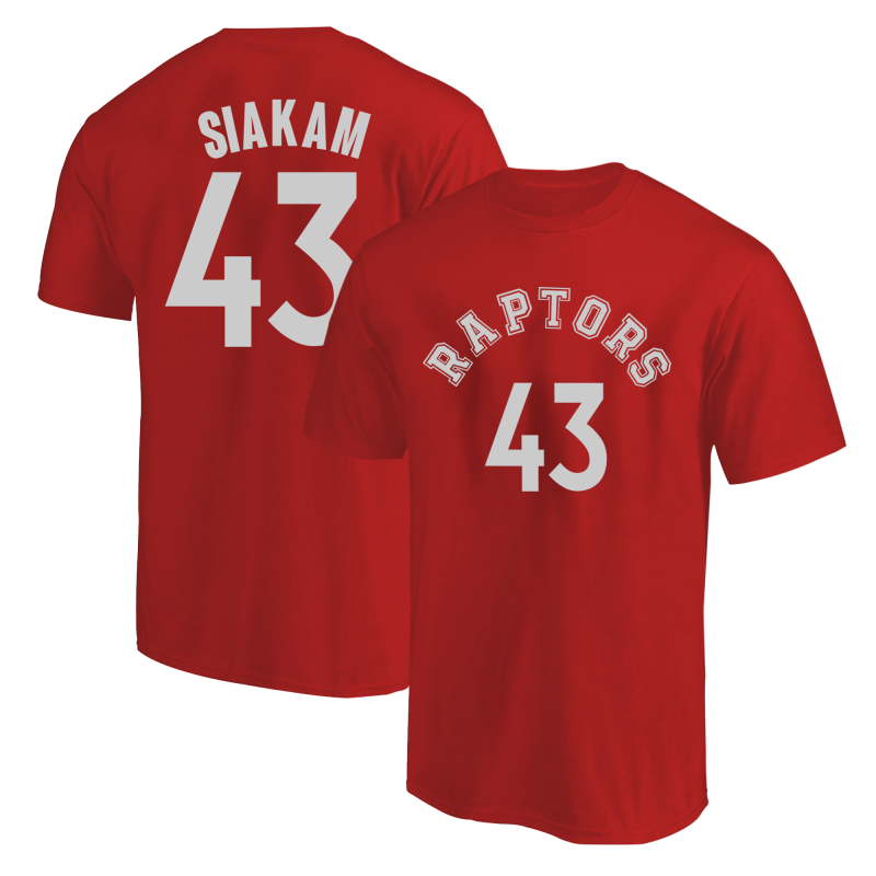 Toronto Raptors Pascal Siakam  Tshirt (TSH-BLC-PLT-tor-PascalSiakam-627)
