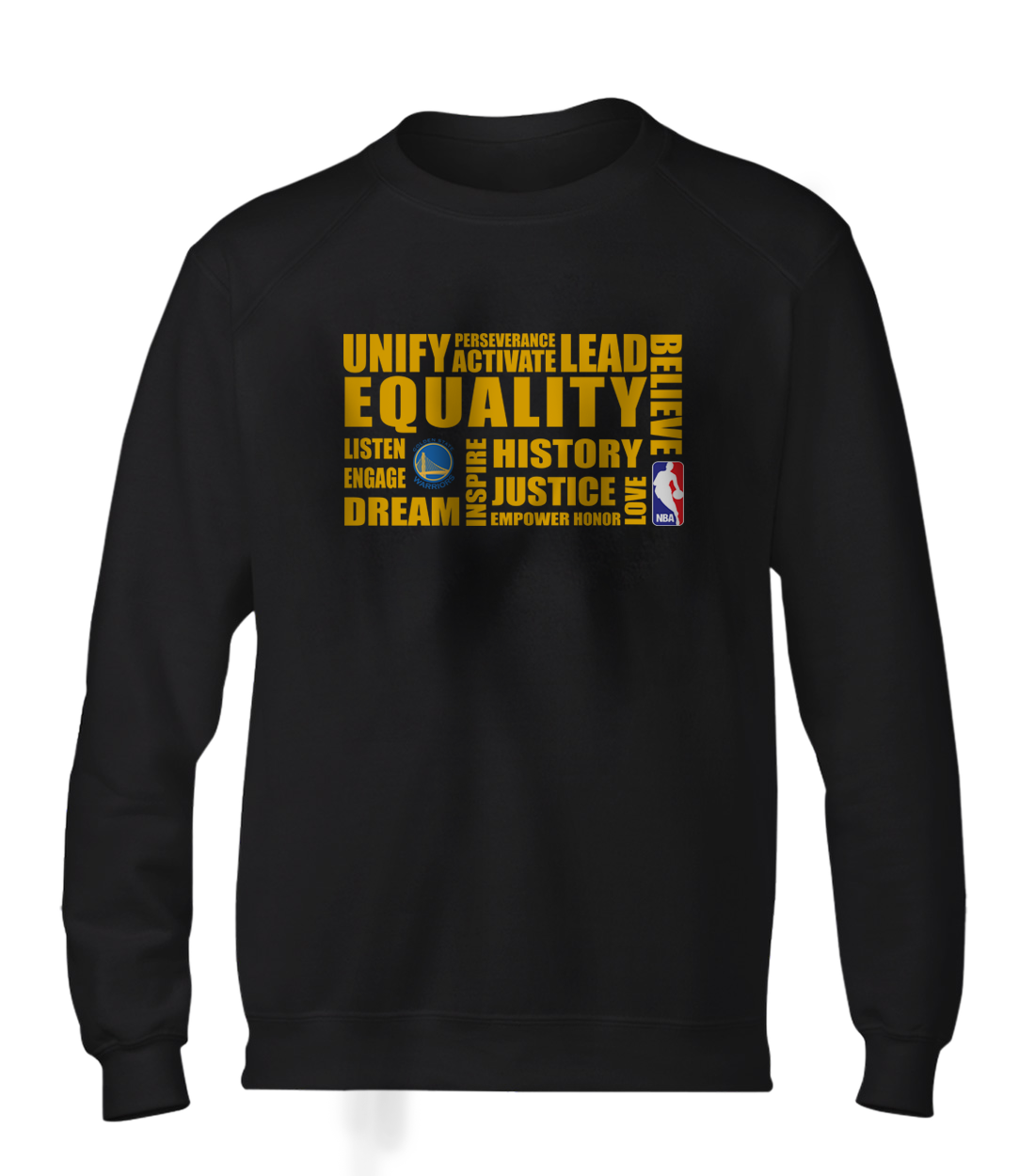 EQUALITY  Golden State Warriors Basic (BSC-BLC-NP-290-NBA-GSW.yllw)
