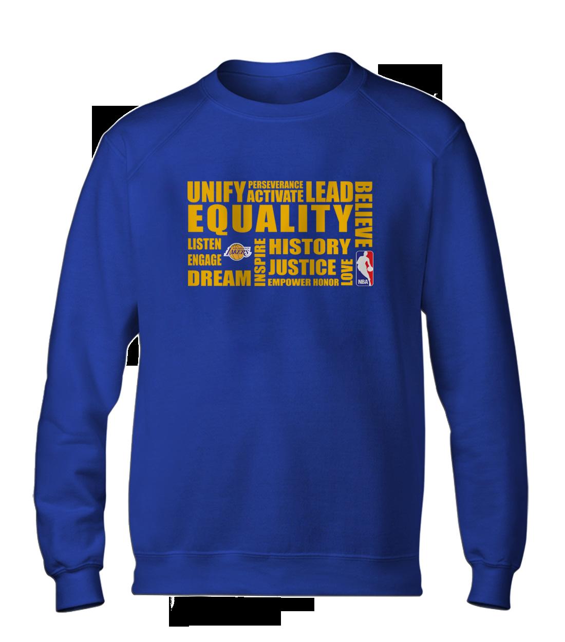 EQUALITY L.A. Lakers Basic (BSC-BLU-NP-290-NBA.LAL.yllw)