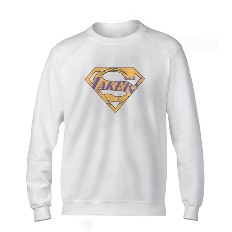 Lakers Superman  Basic (BSC-WHT-NP-122-NBA-LAL-SUPERMAN)