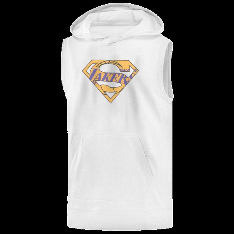 Lakers Superman Sleeveless (KLS-WHT-NP-122-NBA-LAL-SUPERMAN)