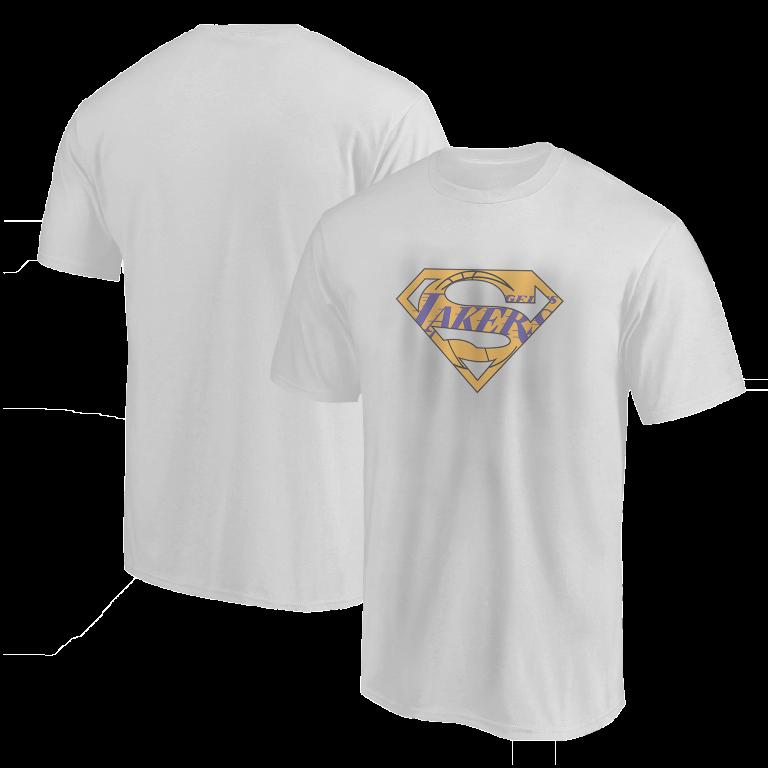Lakers Superman Tshirt (TSH-WHT-NP-122-NBA-LAL-SUPERMAN)