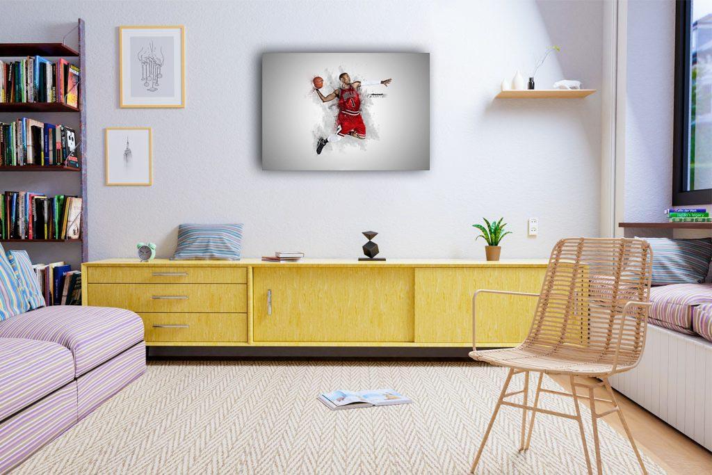 Derrick Rose Canvas Tablo (Nba-canvas-Derrick Rose)