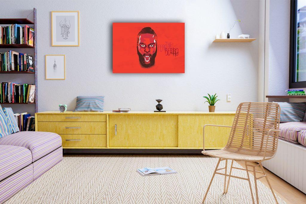 Fear The Beard Canvas Tablo (Nba-canvas-hardenbeard)