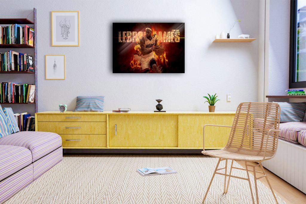 LeBron James Miami Canvas Tablo (Nba-canvas-LBJmiami)