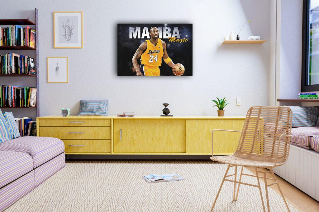 Mamba Magic Canvas Tablo (Nba-canvas-mambamagic)