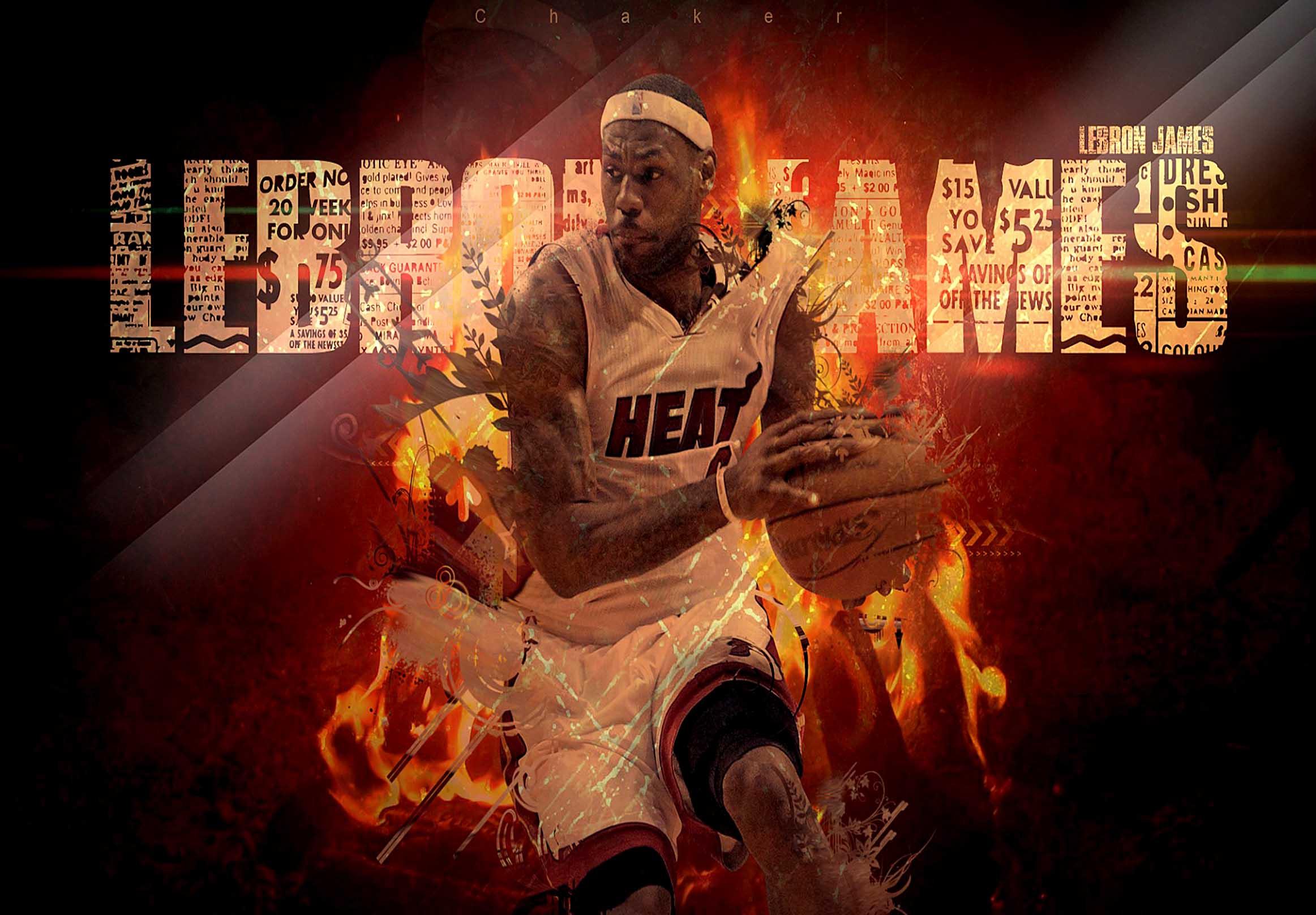 Miami Heat LeBron James Miami Canvas Tablo (Nba-canvas-LBJmiami)