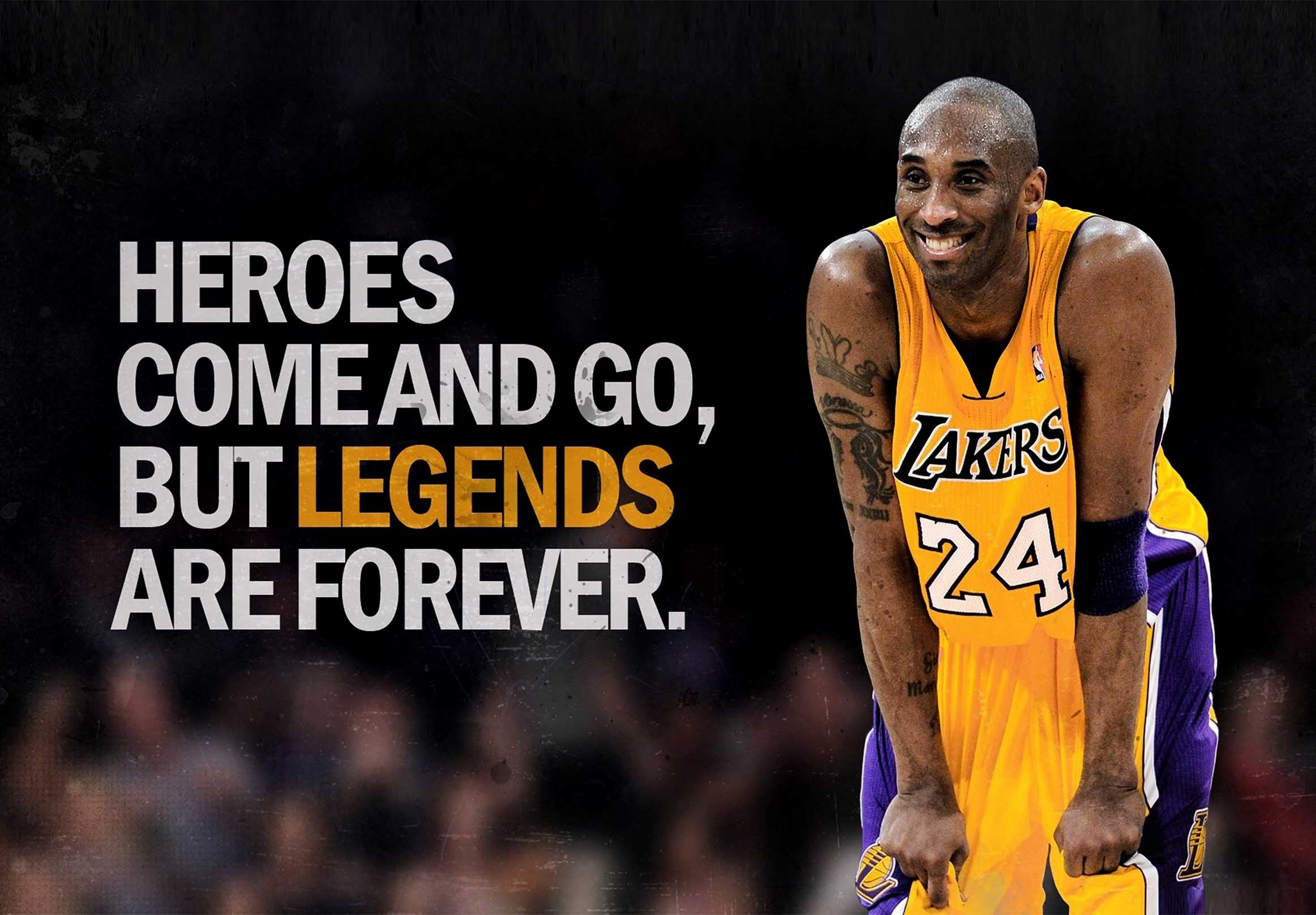 L.A. Lakers Kobe Bryant Legends Are Forever Canvas Tablo (Nba-canvas-legendsforever)