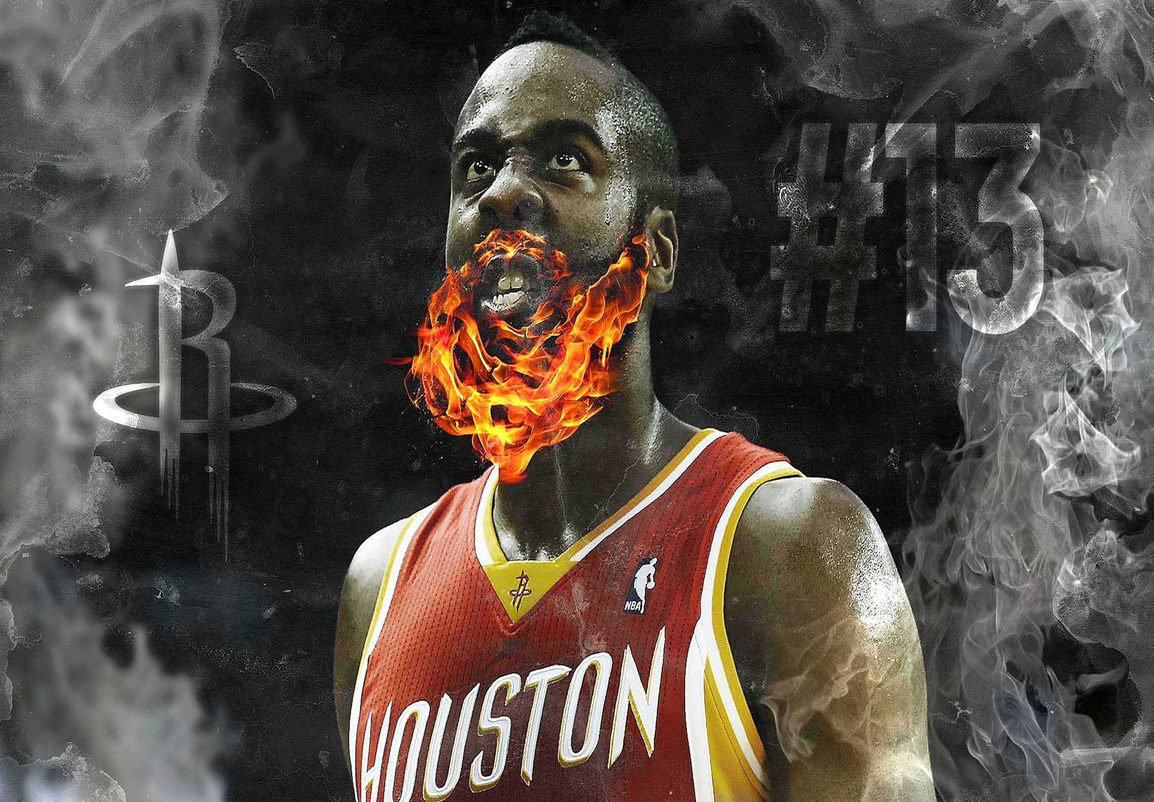 Houston Rockets James Harden Canvas Tablo (Nba-canvas-hardennew)