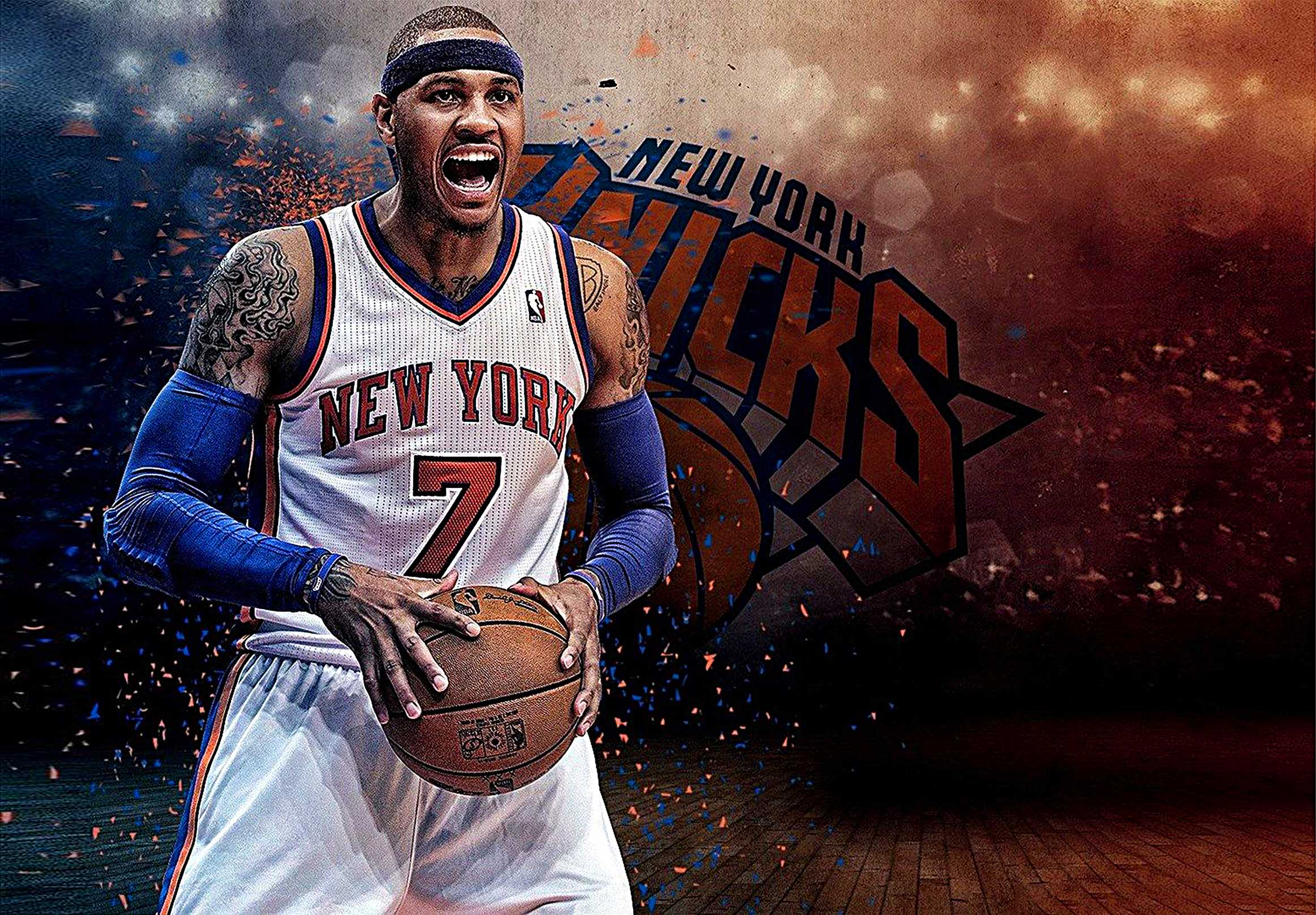 New York Knicks Carmelo Anthony  Canvas Tablo (Nba-canvas-CarmeloAnthony)