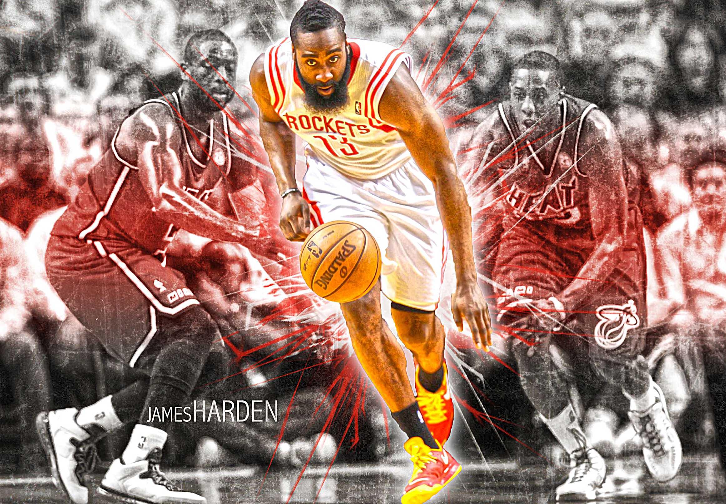 Houston Rockets James Harden Canvas Tablo (Nba-canvas-hardennew1)