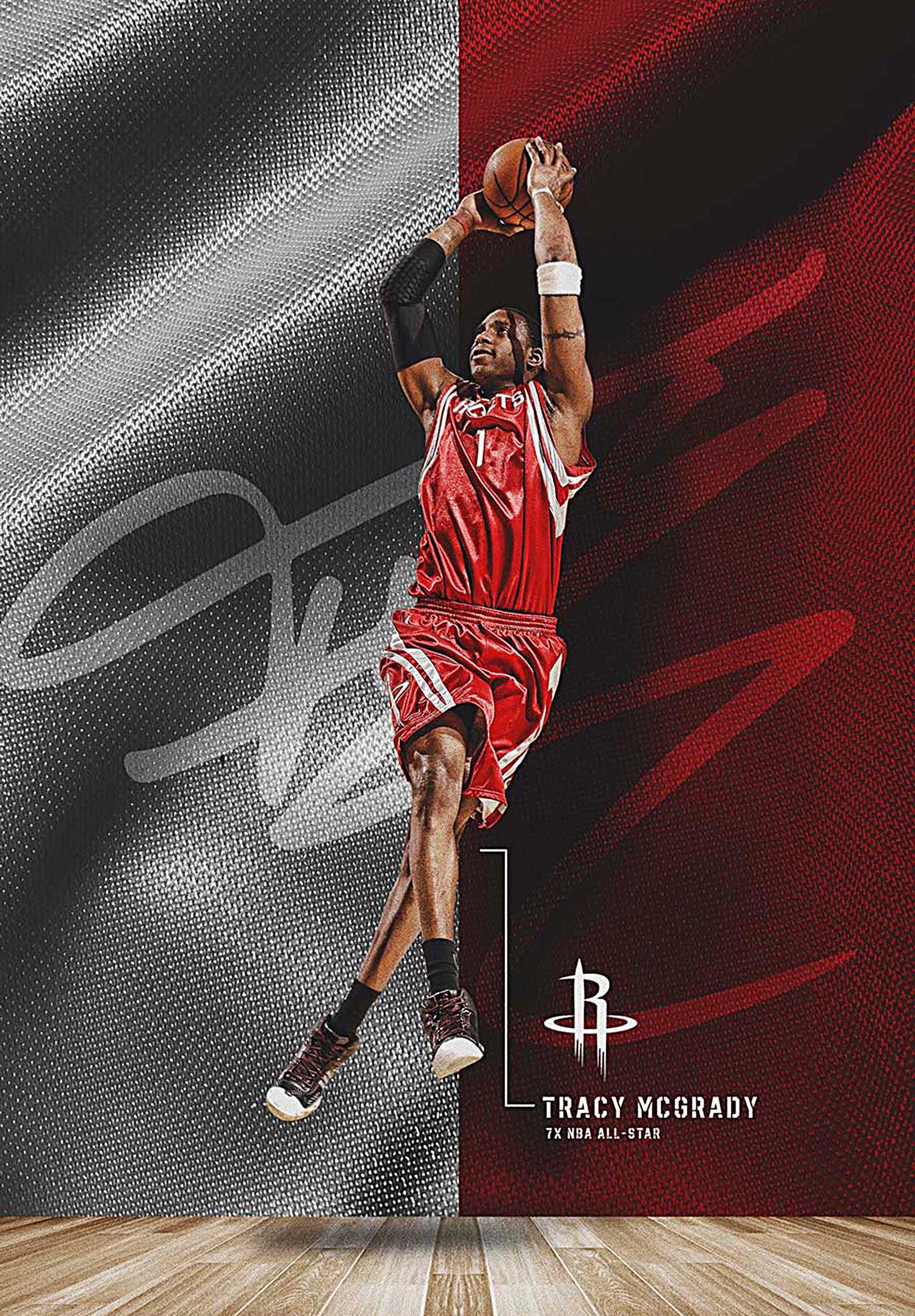 Houston Rockets Tracy McGrady  Canvas Tablo (Nba-canvas-TracyMcGrady)