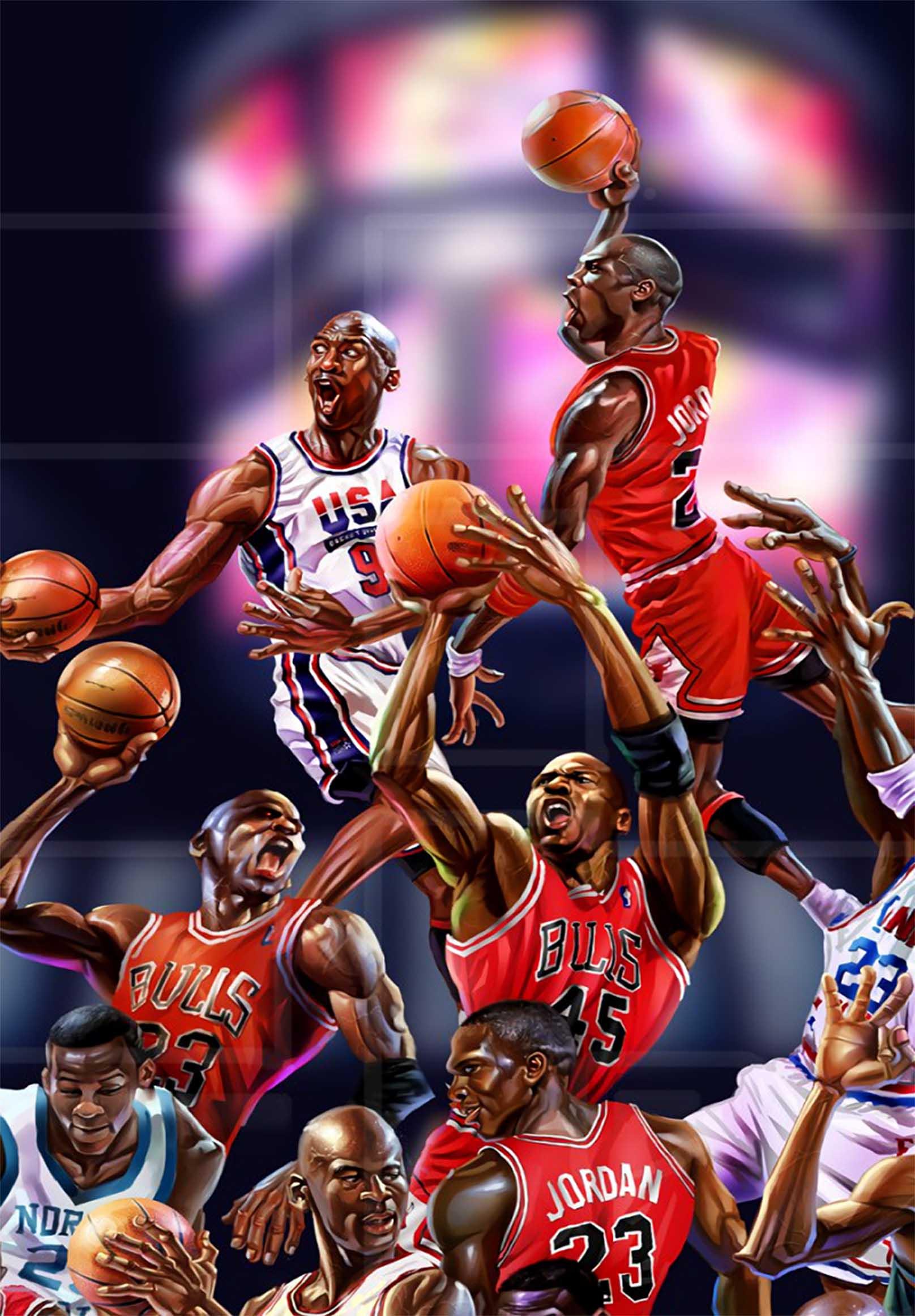 Air Jordan  Michael Jordan Canvas Tablo (Nba-canvas-jordannew1)