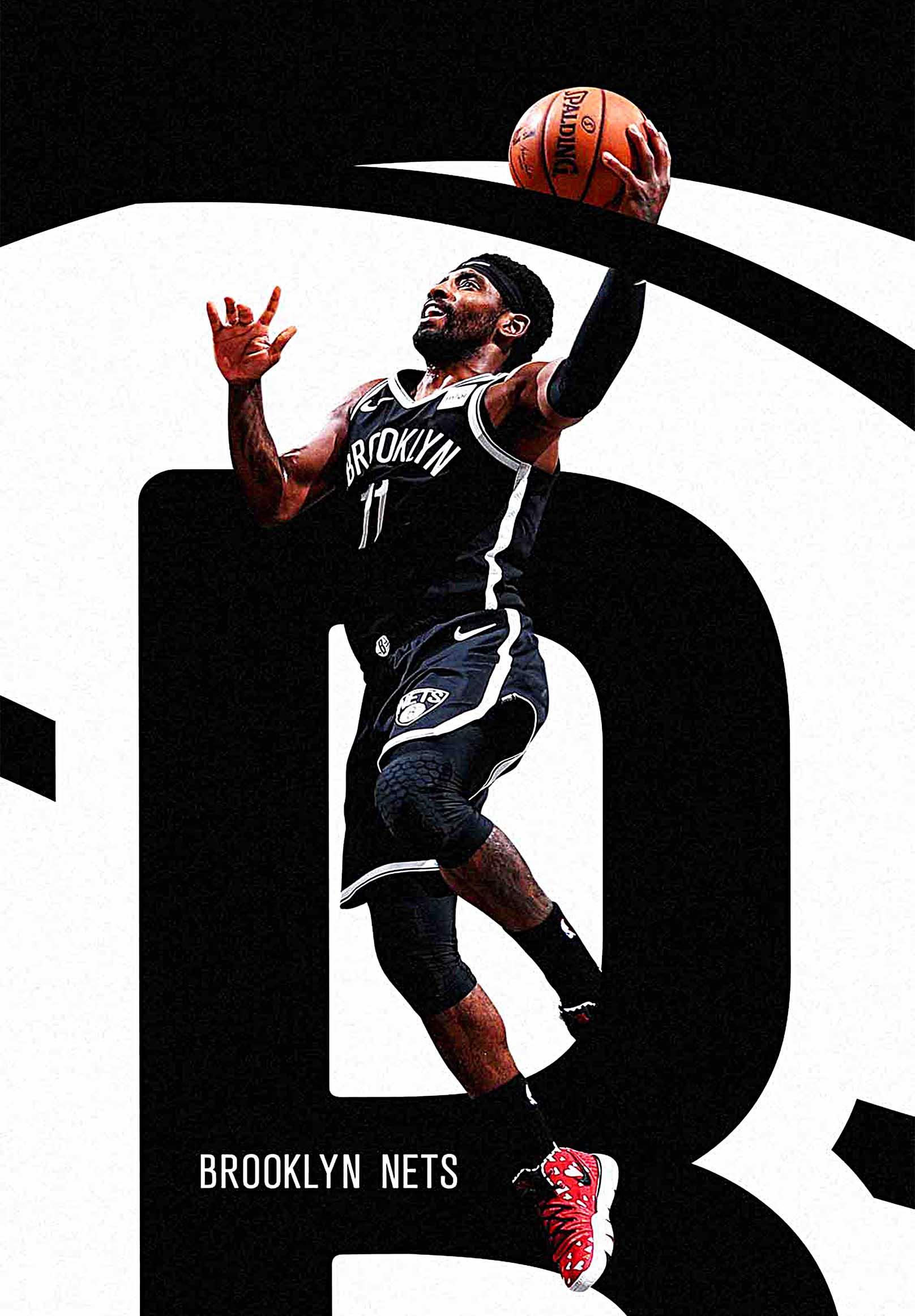 Brooklyn Nets Kyrie Irving Canvas Tablo (Nba-canvas-kyrie1)