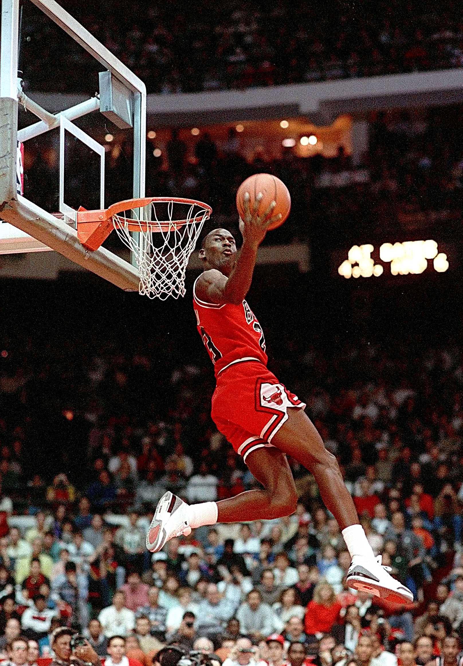 Michael Jordan Dunk Canvas Tablo (Nba-canvas-jordandunk3)