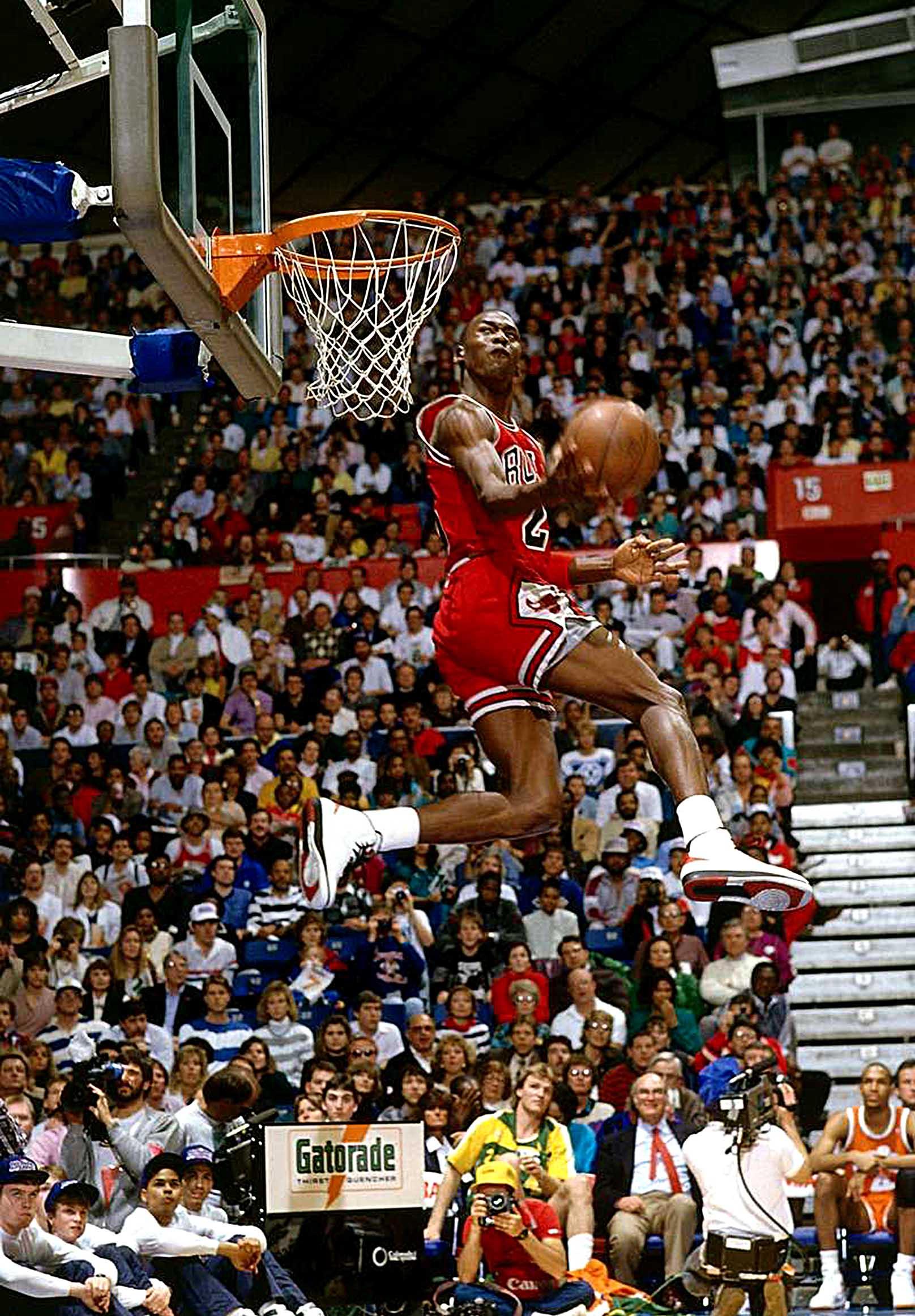 Chicago Bulls Jordan Slam Dunk Canvas Tablo (Nba-canvas-jordandunk)