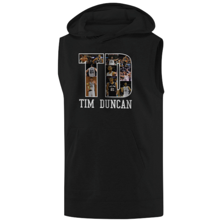 Tim Duncan Sleeveless (KLS-BLC-NP-196-PLYR-SAS-T.D)