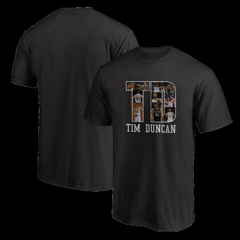 Tim Duncan Tshirt (TSH-BLC-NP-196-PLYR-SAS-T.D)