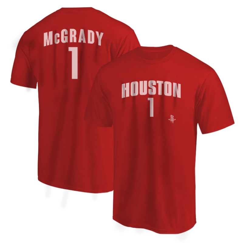 Houston Rockets Tracy McGrady Tshirt (TSH-BLC-PLT- McGrady1-631)