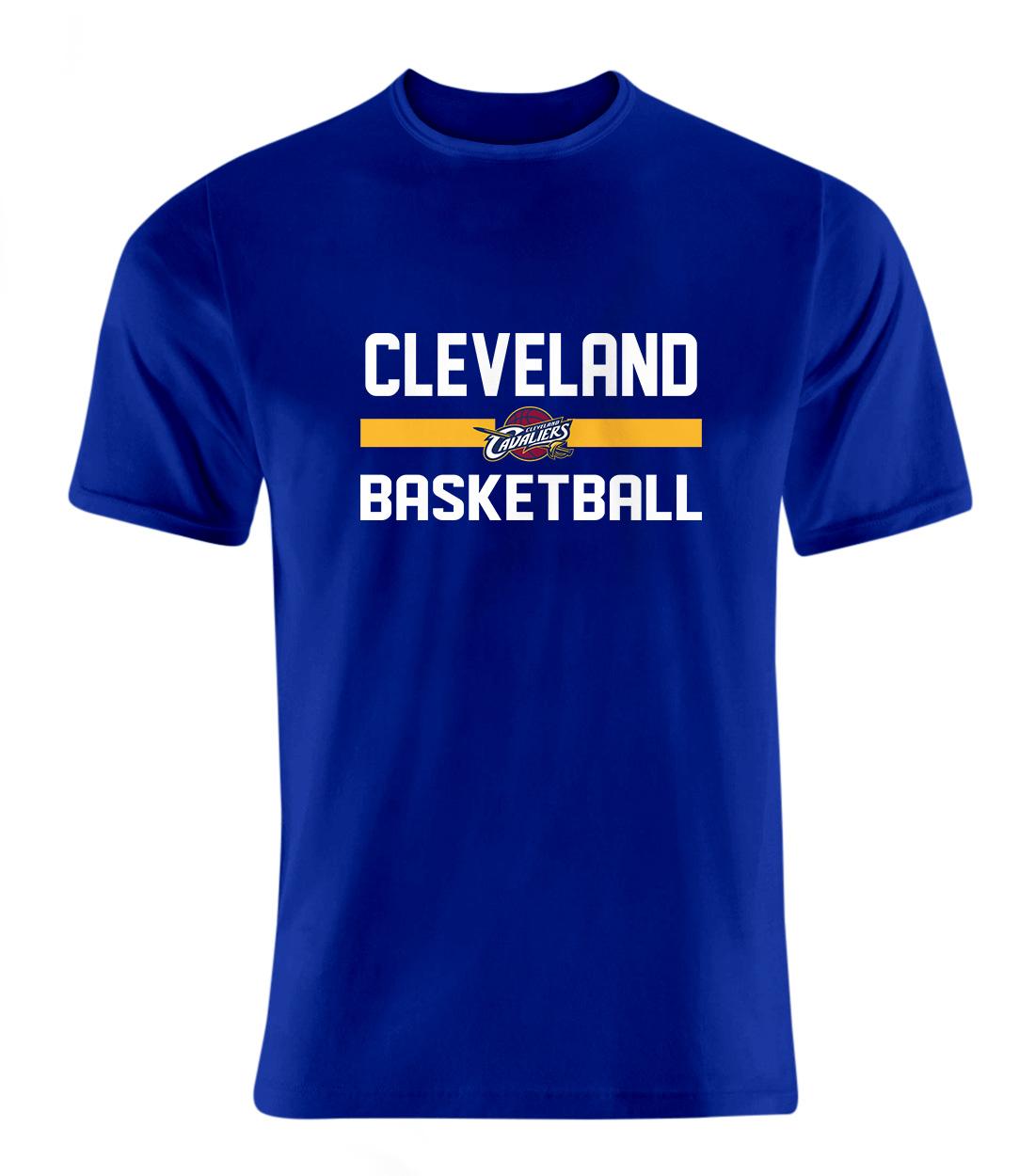 Cleveland Basketball Tshirt (TSH-BLU-NP-66-NBA-CLE-BASKETBALL)