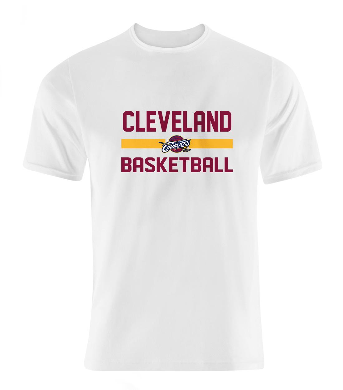 Cleveland Basketball Tshirt (TSH-WHT-SKR-clvlnd-bsktbll-506)