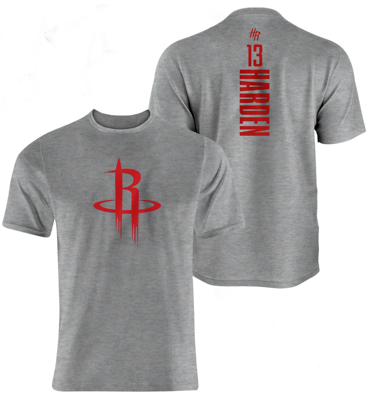 James Harden Vertical Tshirt (TSH-GRY-NP-111-PLYR-HOU-HARDEN.VER.)