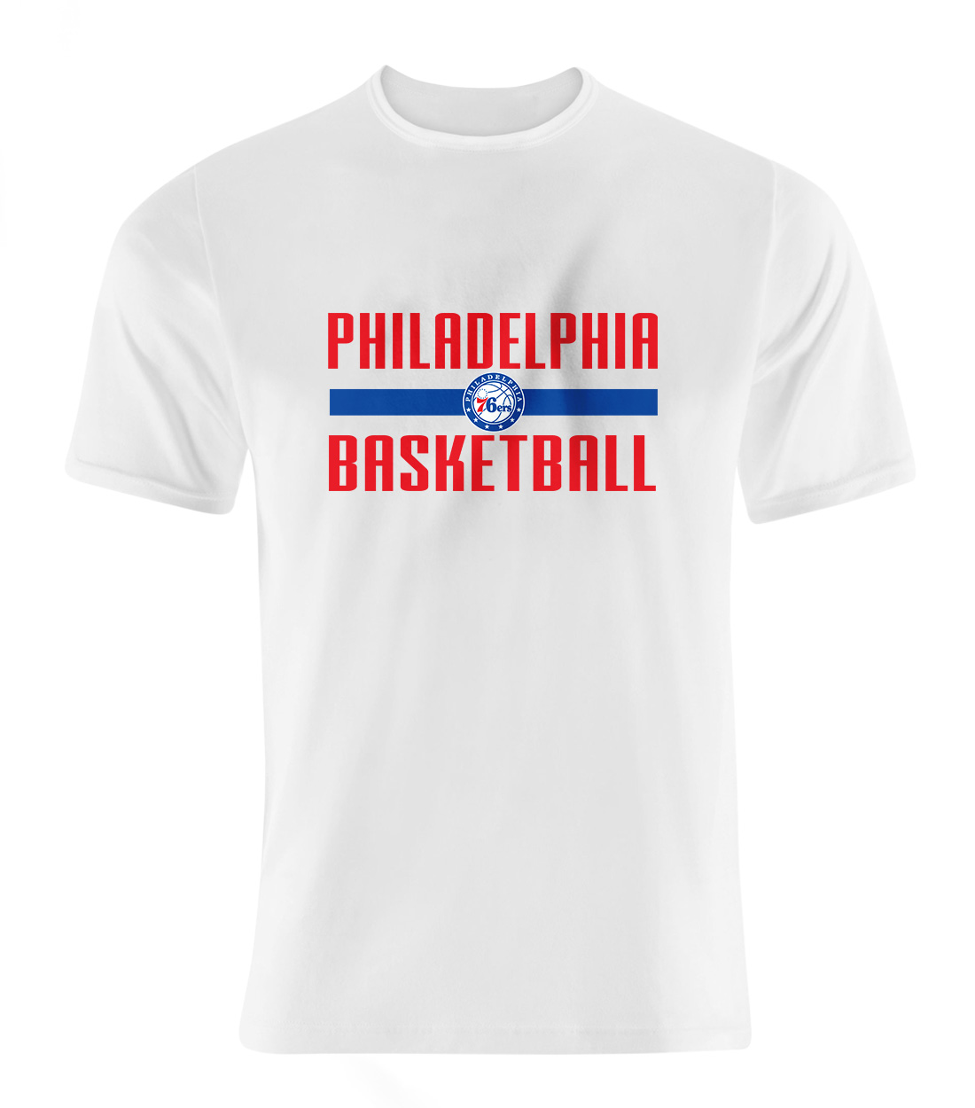 Philadelphia Basketball Tshirt (TSH-WHT-NP-phila.bsktbll-534)