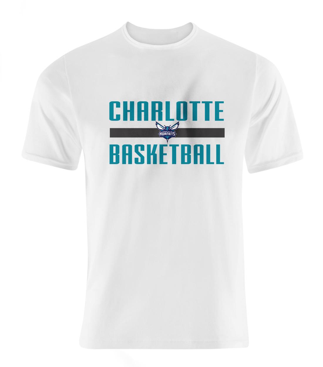 Charlotte Basketball Tshirt (TSH-WHT-SKR-charlotte-basketball-505)