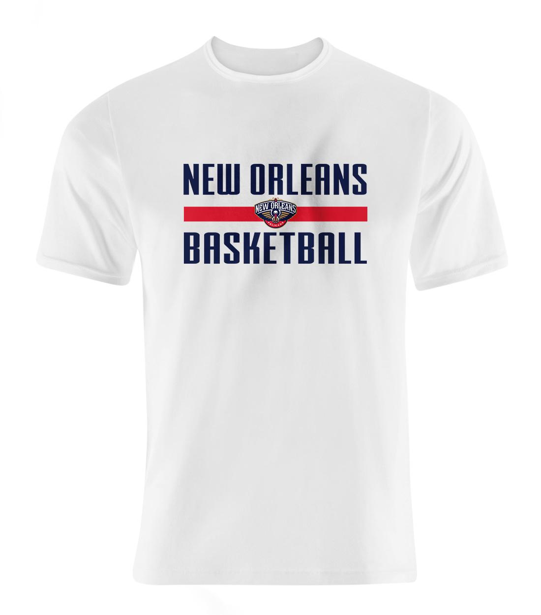 New Orleans Basketball Tshirt (TSH-WHT-SKR-orlns.bsktbll-530)