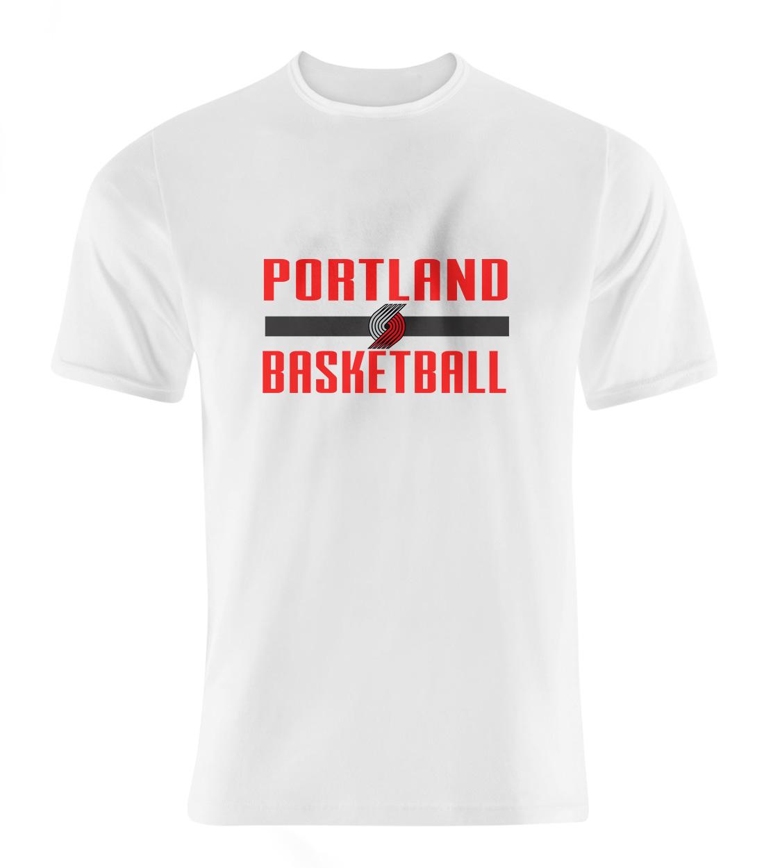 Portland Basketball Tshirt (TSH-wht-NP-Portland-bsktbll-536)